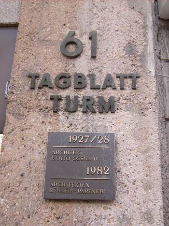 Tagblatt-Turm Stuttgart. Hinter dieser Adresse versteckte sich der hochkriminelle SS-Geheimdienst SD, bis heute nicht identifiziert, geschweige denn erforscht.