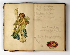 Poesiealbum der Inge Goldstein, Eintrag von Ruth Pappenheim, April 1938; Quelle: Jüdisches Museum München