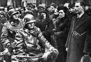 Deutsche Besatzungstruppen in der Tschechoslowakei.