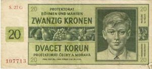 Protektorats Geldschein