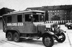 Rundfunkwagen während der Olympischen Spiele 1936