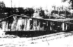 Häftlingsbaracke im Lager Bad Gantlersheim,