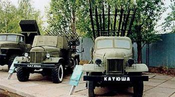Mehrfach-Raketenwerfers BM-32 - Stalinorgel bzw. Katjuscha