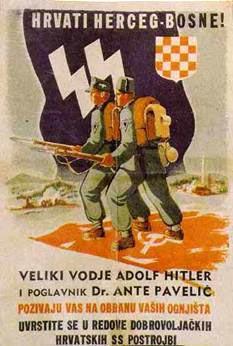 Propagandaplakat: Kroaten der bosnischen Hercegovina!