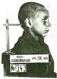 """Aufnahme eines Jungen aus dem """"Polenjugendverwahrlager"""