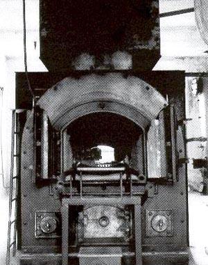 Der Verbrennungsofen im Krematorium.