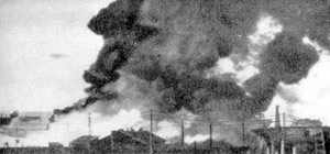 Die von deutschen Fliegerbomben getroffenen Badaev-Depots