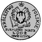 Altes Siegel des Bürgermeisters von Łódź