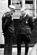 Die Ghetto-Leitung: Hans Biebow (rechts) und Mordechai Chaim Rumkowksi (links).