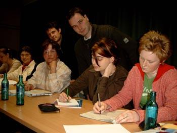 Teilnehmer der Werkstatt.