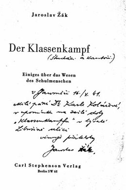 Der Klassenkampf von Jaroslav Žák