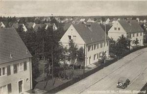 BRABAG-Siedlung für Angestellte in Schwarzheide