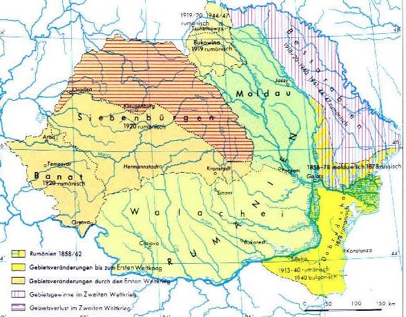 Mitte 1940 mußte Rumänien unter deutschem Druck Nord-Transilvanien an Ungarn und Besarabien an die Sowjetunion zurückgeben.