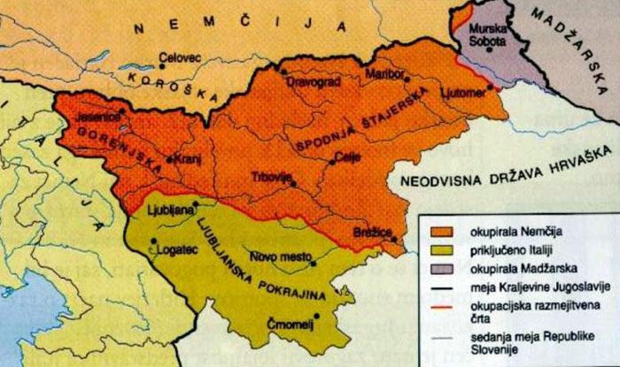 Slowenien während des Krieges
