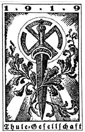 Emblem der Thule-Gesellschaft (Völkisch - antisemitische Organisation um die Jahrhundertwende)