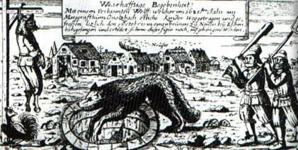 Mythische Werwolfdarstellung